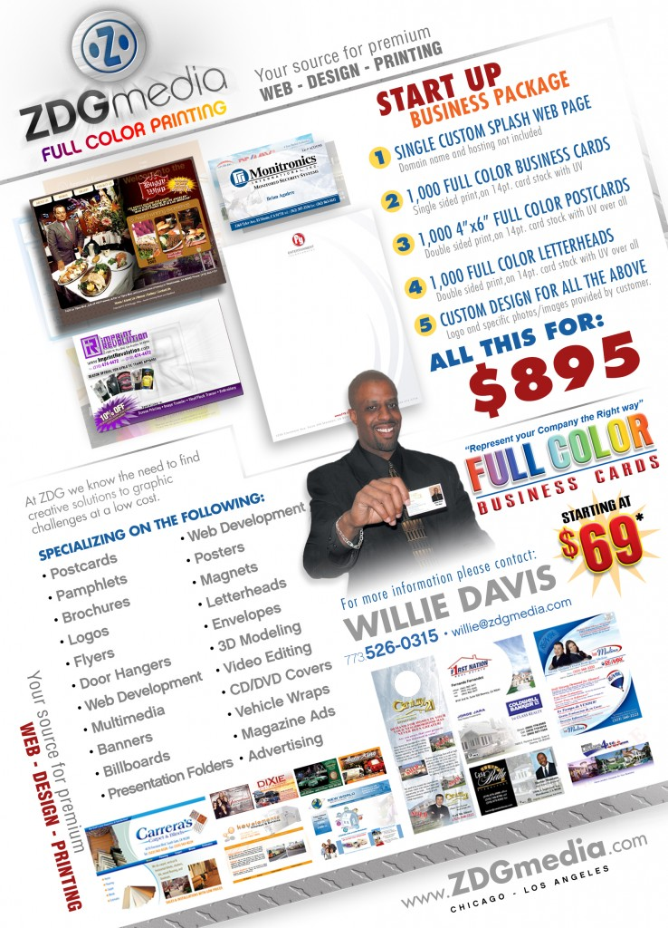 Willie Promo flyer package